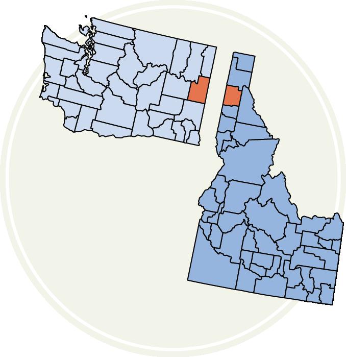 Spokane vs Kootenai county