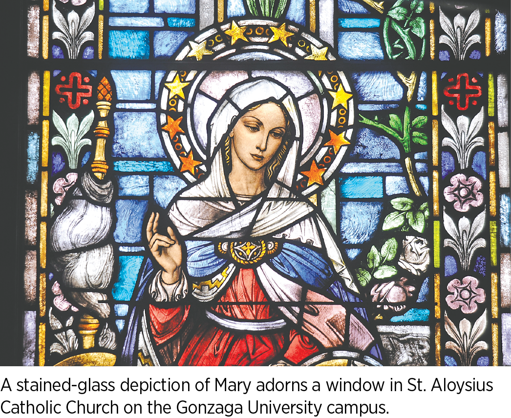 stained glass window at a chuch